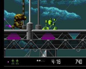 Vector Man; the lime green precursor to limbless platformers such as Rayman?