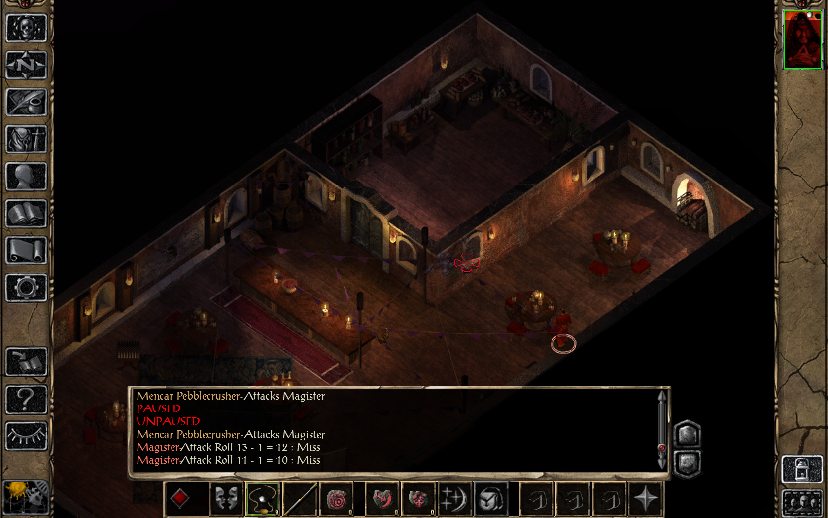 The only way a solo mage can kill Mencar Pebblecrusher: A locked room, a tiny window and 200 sling bullets.