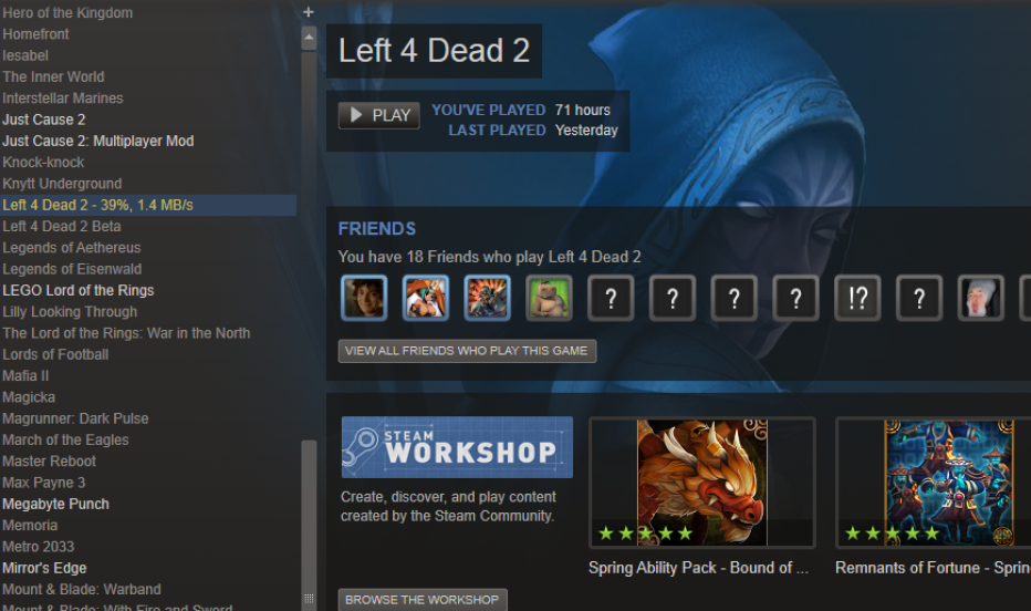 valve game names swapped on steam dota 2 dissapeared
