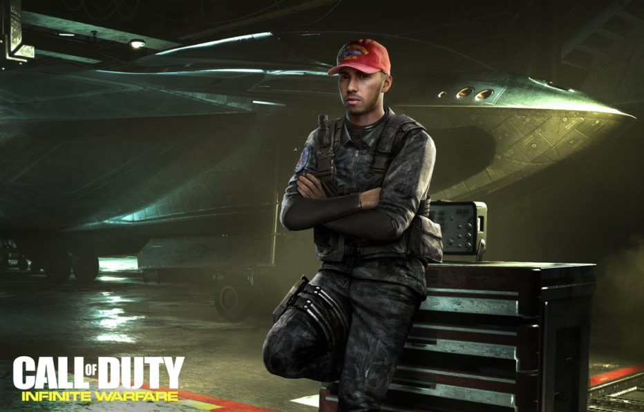 Lewis Hamilton is Inexplicably cast in Call of Duty: Infinite Warfare